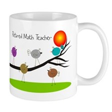 retired Math teacher retro birds Mug