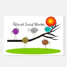Retired Social worker A Postcards (Package of 8)