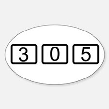 305 Calc Style Oval Decal