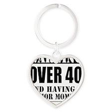 Over 40 Senior Moment Heart Keychain