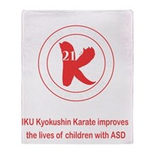 Kid Strong Foundation Throw Blanket
