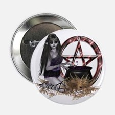 "Wiccan Pentacle 2.25"" Button"