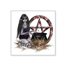"Wiccan Pentacle Square Sticker 3"" x 3"""