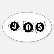305 Bullet Hole Style Oval Decal