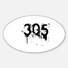305 Cold Night Style Oval Decal