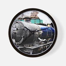 Vintage Steam Train under the railway b Wall Clock