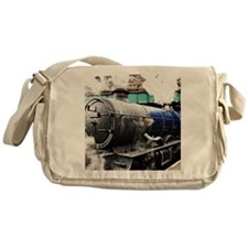 Vintage Steam Train under the railwa Messenger Bag