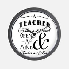 Teachers open minds Wall Clock