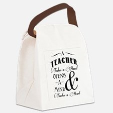 Teachers open minds Canvas Lunch Bag