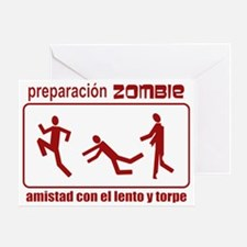 Zombie Preparedness Spanish Greeting Card
