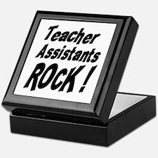 Teachers Assistants Rock ! Keepsake Box