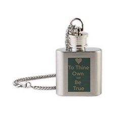 Be true to yourself! Flask Necklace