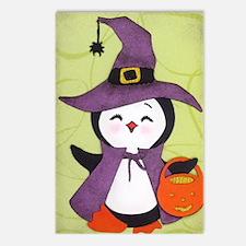 Happy Halloween Penguin c Postcards (Package of 8)