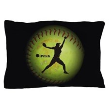 iPitch Fastpitch Softball (left handed) Pillow Cas