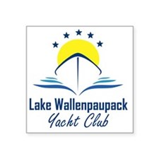 "Lake Wallenpaupack Yacht Cl Square Sticker 3"" x 3"""