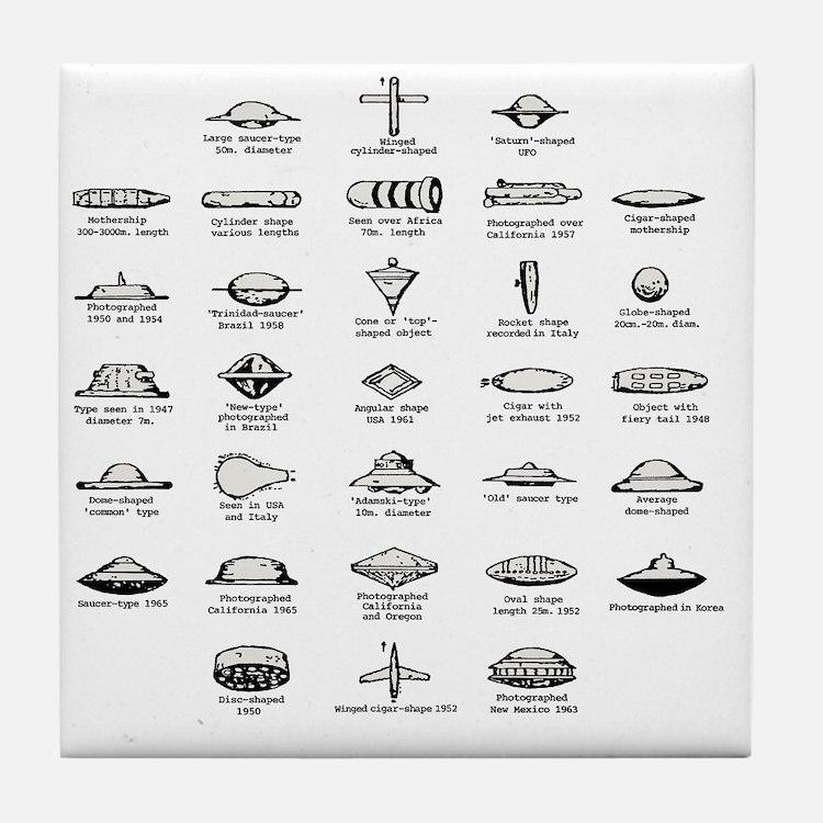 UFO Chart Tile Coaster