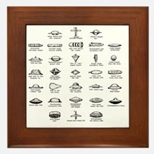 UFO Chart Framed Tile