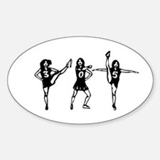 305 Cheerleader Style Oval Decal