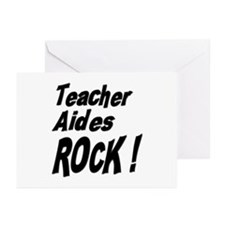 Teacher Aides Rock ! Greeting Cards (Pk of 10)