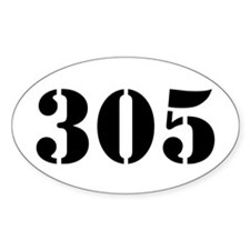 305 Army Style Oval Decal