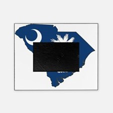 South Carolina State Flag and Map Picture Frame