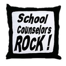 School Counselors Rock ! Throw Pillow