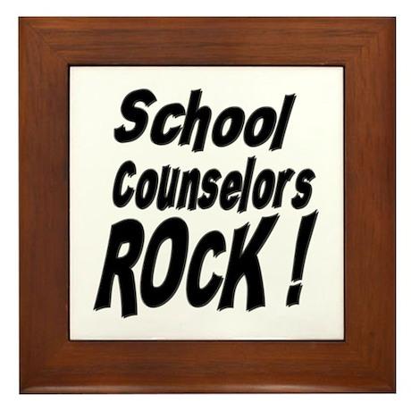 School Counselors Rock ! Framed Tile