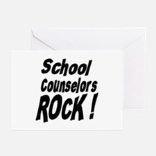 School Counselors Rock ! Greeting Cards (Package o