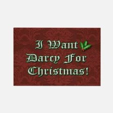 Darcy for Christmas Rectangle Magnet