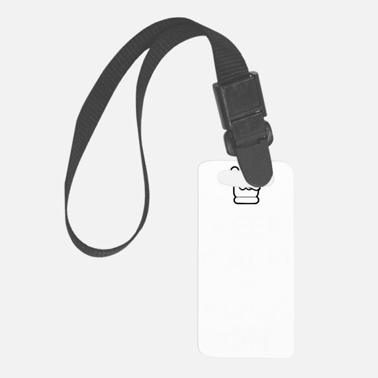 Keep Calm and Rock On (dark) Luggage Tag
