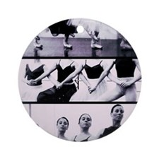 Four Cygnets Rehearsing Round Ornament