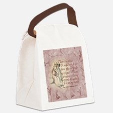 Northanger Abbey Quote Canvas Lunch Bag