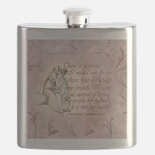 Northanger Abbey Quote Flask