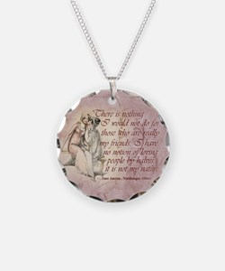 Northanger Abbey Quote Necklace