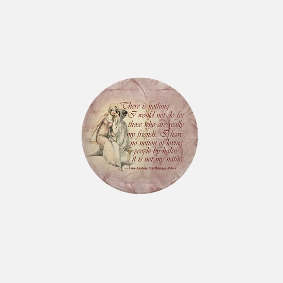 Northanger Abbey Quote Mini Button
