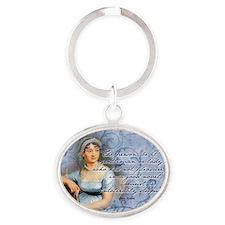 Jane Austen Quote Oval Keychain