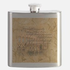 Jane Austen Quote Flask