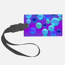 Violet Mist - Cyan and Purple Li Luggage Tag