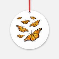 Monarch Butterflies Round Ornament