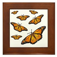 Monarch Butterflies Framed Tile