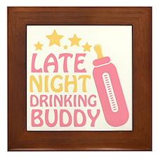 Drinking Buddy Framed Tile