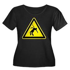 In Case  Women's Plus Size Dark Scoop Neck T-Shirt