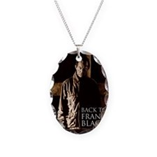Back To Frank Black Book Cover Necklace Oval Charm
