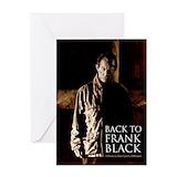 Frank black Greeting Cards