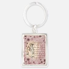 Jane Austen Quote Portrait Keychain