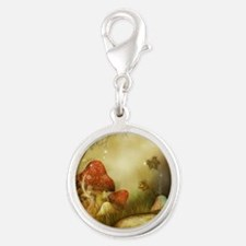 Fairy Woodlands 4 Silver Round Charm
