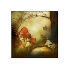 "Fairy Woodlands 4 Square Sticker 3"" x 3"""