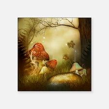 "Fairy Woodlands 4 Square Sticker 3"" x 3"""