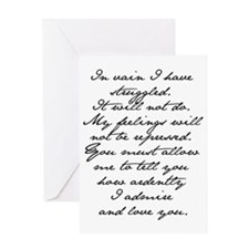 7 Jane Austen Prop... Greeting Card