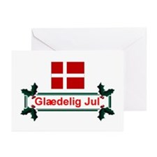 Denmark Glaedelig Jul Greeting Cards (Pk of 10)